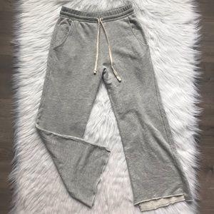 NWT Sundry Grey cropped flare sweatpants size 0